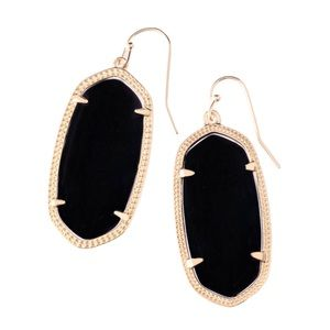 KENDRA SCOTT • Elle Earrings • Black & Gold